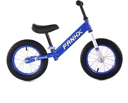 TX Bicicleta De Equilibrio Sin Pedales para Niños De Aleación De Magnesio Ligera Neumatico Bicicleta Infantil Ajustable 3 Años A 6 Años,Blue,12inch: Amazon.es: Deportes y aire libre