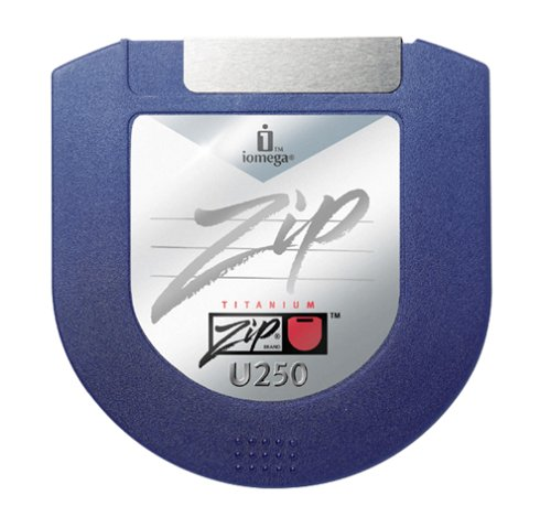 Iomega 31528 Zip U250 Clamshell Disks (Mac Formatted, 5-Pack) by Iomega