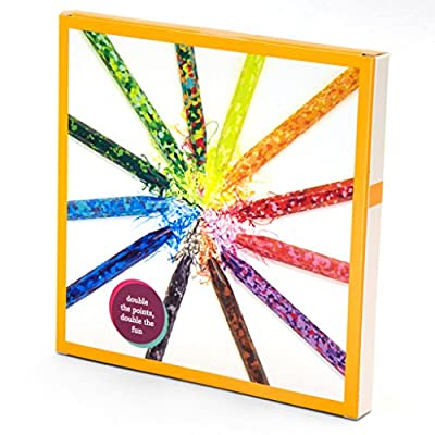 Kid Made Modern Confetti Coloring Crayons - Kids Art Supplies | Set of 12: Toys & Games