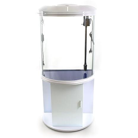 Acuario con mueble, vidrio, curvado, 103 litros