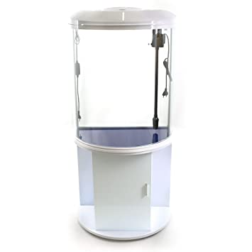 Acuario con mueble, vidrio, curvado, 103 litros: Amazon.es: Productos para mascotas