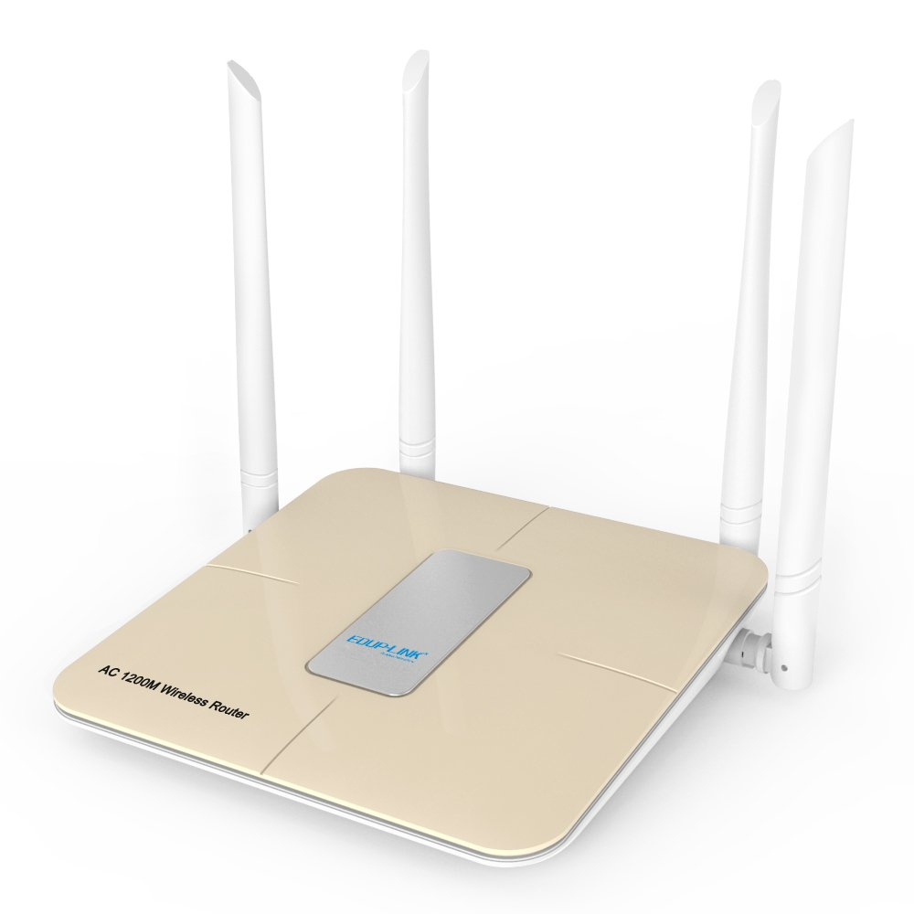 Wifi Router AC1200 Wireless Router Wi-Fi High Speed Dual Band 5GHZ / 2.4GHZ Long Range Smart External Antenna Whole Home,Office, Meeting,Public Place by EDUPLINK