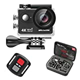 Muson 4K WIFI Action Camera 2.0¡± Screen 12MP F/2.4 170 Degree Wide Angle 30M Waterproof Sports DV With 2.4G Remote Control and 19 Accessories kits