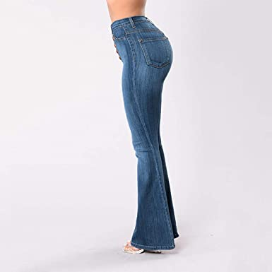 TIANMI Womens Jeans, Fashion Slim Straight line Button ...