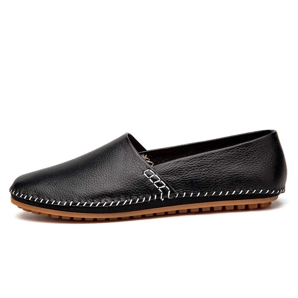 JIALUN-Schuhe Komfortable Drive-Müßiggänger der der der Männer Lässig Leichtes Leder Atmungsaktiv EIN FußpedalStiefel-Mokassins (Farbe   Schwarz, Größe   45 EU)  5d0446