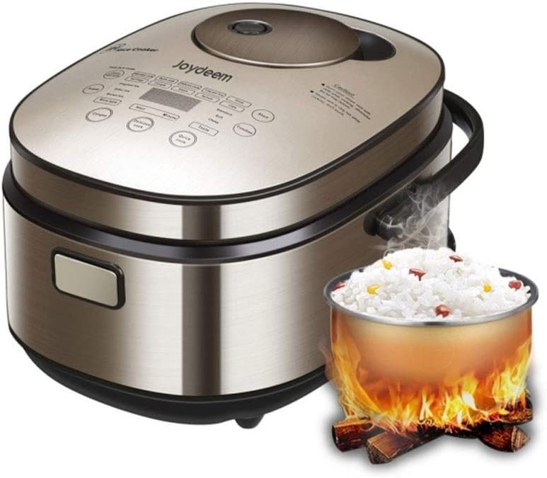 Joydeem Electric Muti-Rice Cooker AIRC-4001 with Induction Heating System, 24-hour Preset,8 Cup(Uncooked), Touch Control Panel, Metal Brown