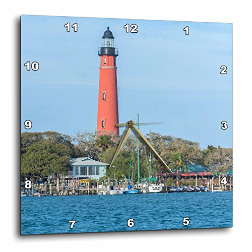 3dRose USA, Florida, Ponce Inlet, Ponce De Leon Inlet Lighthouse. - Wall Clock, 13 by 13-Inch (DPP_208544_2)