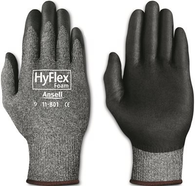 ANSELL PROTECTIVE PRODUCTS 11-801-10 Size 10 295792 Hyflex Foam Nitrile-Coated Gloves