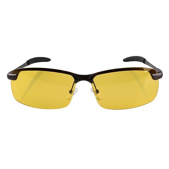 Haihuic Noche de conducción antideslumbrante HD gafas polarizadas gafas de sol de las lentes amarillas del controlador: Amazon.es: Coche y moto