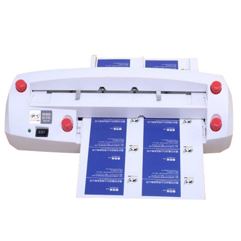 Upgrade Heavy Duty Automatic Business Cutter Card Miniature Adjustable Name Card Slitter A4 Size Card Cutting Machine Cut Card Machine,9054MM Business (New Design Business Card Cutter)