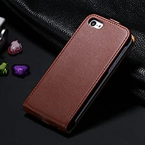 New Arrival Genuine Leather Case For iPhone 5c Vertical Book Stand Cover Cases with Card Holder for iphone5c YXF03472 --- Color:Blue