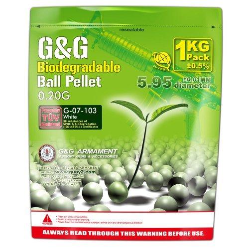 G & G Bio BB 0.20g / 1KG Aluminum Foil (White) / G-07-103 by G&G