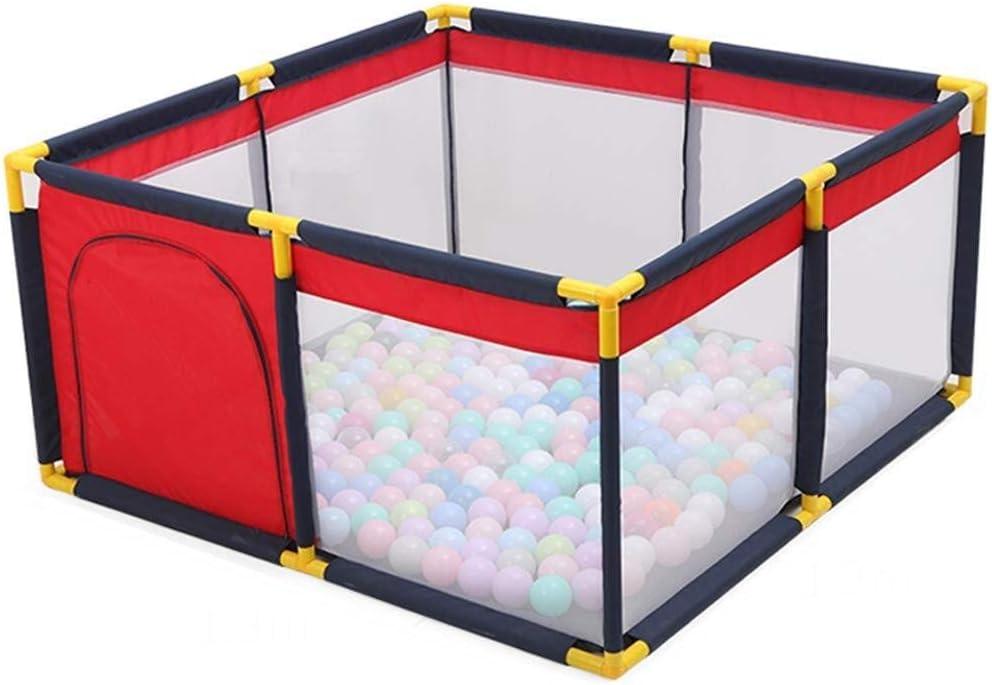 Yankuoo Rojo Tienda del Juego de los niños de la Bola del hoyo, niños Ball Pool Bola de bebé Plegable Pit Piscina Surge la Tienda Cubierta Puerta Exterior Teatro de niño del bebé de la Cremallera
