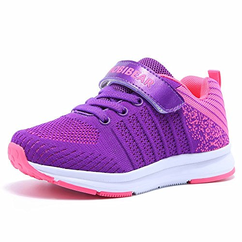 Kids Lightweight Sneakers Boys and Girls Casual Running Shoes(11,Purple) (Girls Purple Tennis Shoes)