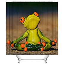 DebbieBrown Bath Curtains Of Angry Frog Polyester Width X Height / 72 X 80 Inches / W * H 180 By 200 Cm Best Fit For Him Kids Girl Bf Kids Birthday. Durable. Fabric