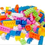 Happy GiftMart 88 Pieces Lego Like Colorful DIY Mini World Building Blocks Educational Kids Puzzle Construction Toy