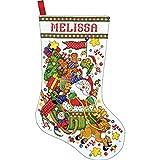 Design Works Santa Sleigh Stocking, Multi-Color by Design Works