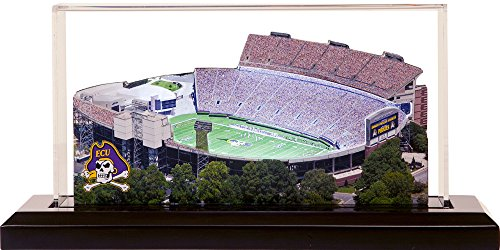 - East Carolina Pirates Dowdy-Ficklen Stadium, Small Lighted in Display Case
