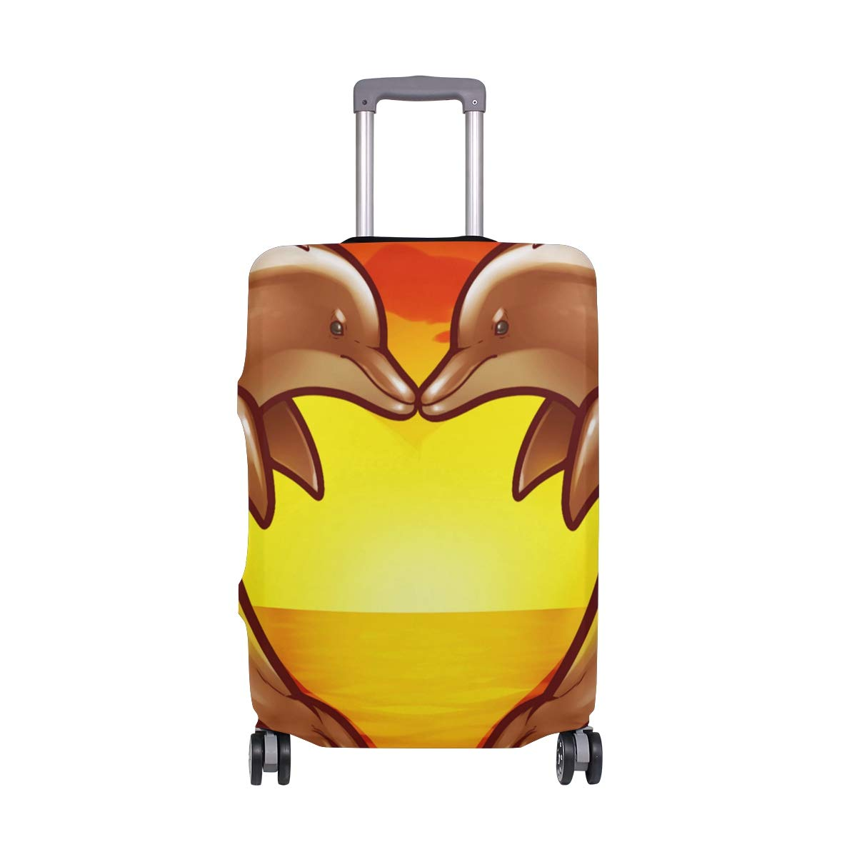 Travel Luggage Cover DIY Prints Protector Suitcase Baggage Fit 18-32 inch - Love Dolphins