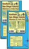 San Diego County Bikeways & Trails Map Pack Franko Maps 2 Waterproof Maps
