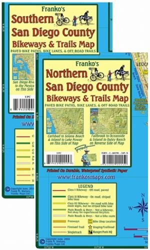 Download San Diego County Bikeways & Trails Map Pack Franko Maps 2 Waterproof Maps pdf