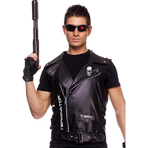 Men's Terminator Vest - Zip Up Motorcycle Vest - Best Value!