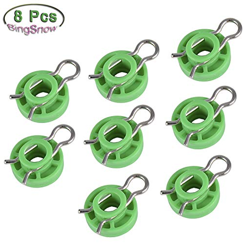BingSnow 8 Pcs Window Regulators Sliding Pivot Guide Roller Clip Fastener for Volvo 850 V70 S70 V70XC Sliding Jaw Window Regulator for Saab 9-3 9-5 900 ()