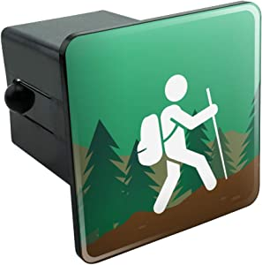 Graphics and More Hiker Hiking Symbol Mountain Nature Tow Trailer Hitch Cover Plug Insert 2""