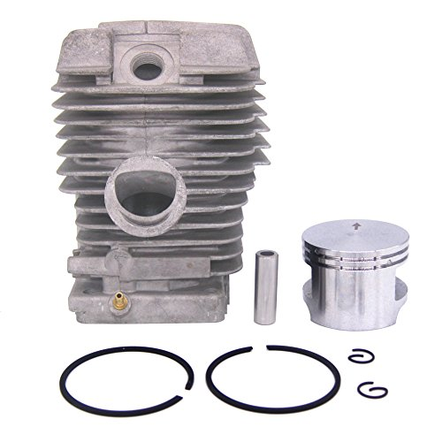 FitBest Big Bore Cylinder Head 49mm Piston Kits Assembly for Stihl MS310 MS390 MS290 029 039 Chainsaw Piston Pin Rings ()