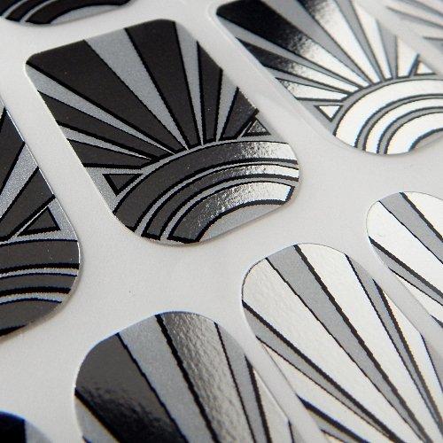 Chix Nails Nail Wraps Art Deco Fingers Toes Vinyl Foils Minx Trendy Style des1