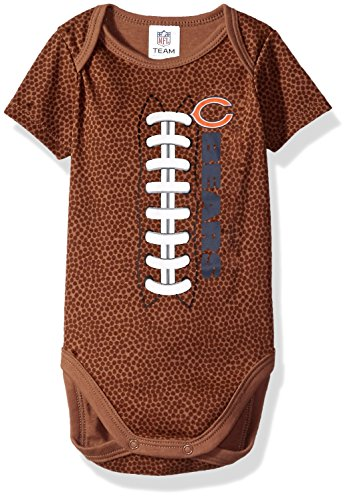 Bears Infant Sleeper - NFL Chicago Bears Unisex-Baby Football Bodysuit, Brown, 18 Months