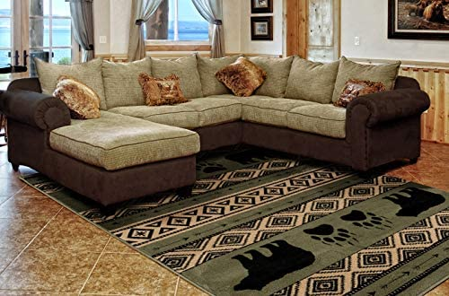 United Weavers of America Woodside Rug 7 10 x 10 6 Green