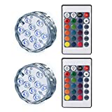 interesting patio pond design ideas Ledgle Submersible LED Light Battery Operated Multi Color Changing Waterproof Decorated LED Lights with Remote Control for Aquarium, Hot Tub, Vase Base, Party, Wedding (2 Pack)