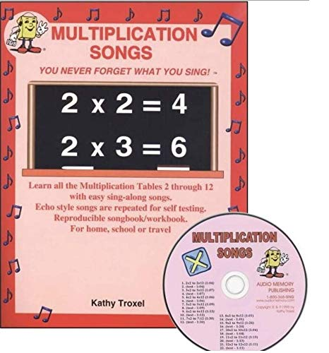 (Multiplication Facts Songs - CD and Book: Times Tables 1 to 12, Sing Along and Learn!)
