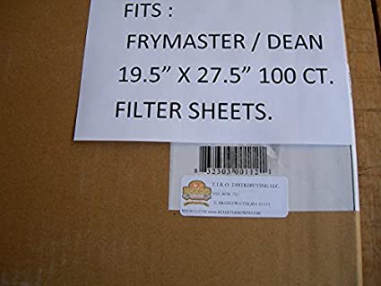 Amazon.com: frymaster rectangle-type freidora Filtros de ...