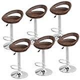 Super Deal Adjustable Pub Swivel All Weather Wicker Barstool Gas Lift25-34 inch, Rattan Style (Set of 6) Review