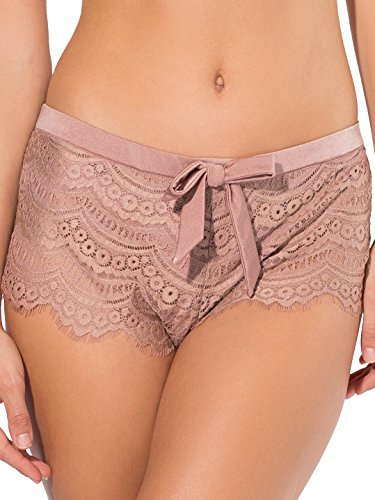 Smart & Sexy Women's Scalloped Crochet Lace Swimsuit Shortie, Ballet Fever, - Bottom Bikini Crochet