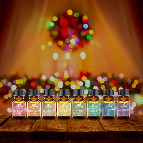 ArtNaturals-Aromatherapy-Top-8-Essential-Oils-100-Pure-of-The-Highest-Quality-PeppermintTee-TreeRosemaryOrangeLemongrassLavenderEucalyptusFrankincense-Therapeutic-Grade