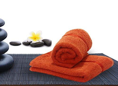 Story@Home Cotton 200 GSM 2 Piece Hand Towel Set – Orange