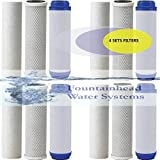 FOUNTAINHEAD 12 PIECE 3 STAGE WATER FILTERS SEDIMENT/GAC/CARBON BLOCK FILTERS