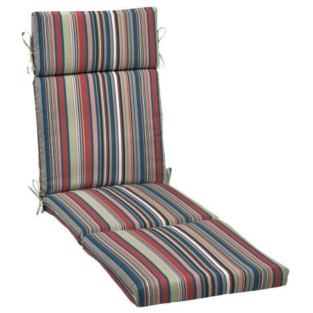 Better Homes and Gardens.. Outdoor Patio Chaise Lounge Cushion (Breezy Stripe)