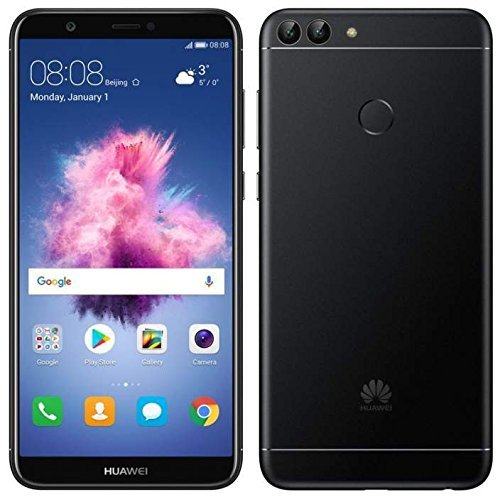 "51K4gdWtNoL Huawei P Smart (32GB) 5.6"" Fullview Display & Dual Camera's, 4G LTE Dual-SIM Factory Unlocked w/ Fingerprint Scanner FIG-L23 International Model, No Warranty (Black)"