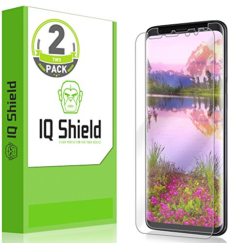 [2-Pack] IQ Shield LiQuidSkin Full Coverage Clear Screen Protector for Samsung Galaxy S9 Plus [Edge to Edge](Max Coverage) HD Anti-Bubble TPU Film