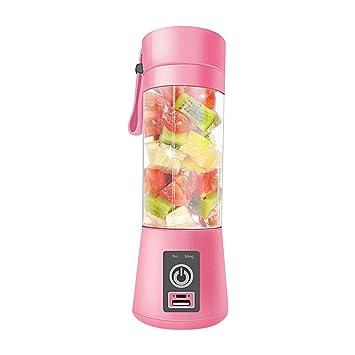 AOLVO 380ml Licuadora Vaso USB Bottle Portátil y Recargable para Jugo de Fruta, Verdura y Milkshake, Rosa: Amazon.es