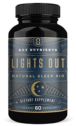 Natural Sleep Aid, Lights Out: Contains Melatonin, Valerian, Passion Flower, More. 60 Sleeping Pills, Veggie Capsules, Non-Habit Forming Sleep Supplement
