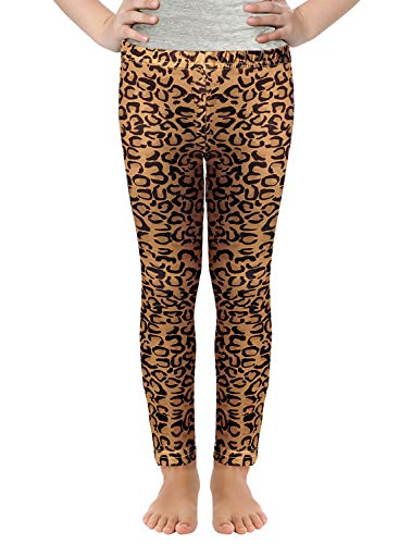 Girls Digital Prints Leggings Owl Mermaid Colored Basic Pants for 3-11Y (Leopard, 100 (3-4Y)) (Toddler Leopard Leggings)