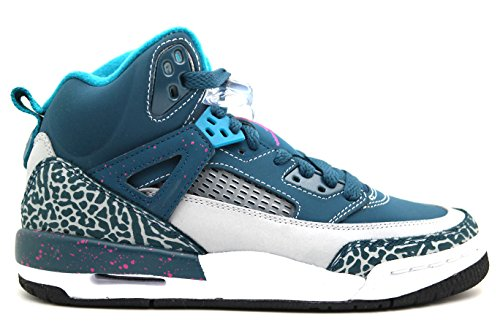 Nike Jordan Spizike BG Space Blue/Wolf Grey/Black/Fusion Pink 317321-407 (SIZE: 5Y) (Fusion Shoes Basketball)