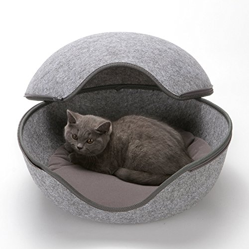 I-Fashion Egg Shaped Cat Bed-Pet House, Bed, Cozy Cave