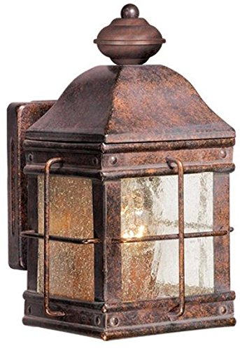 Vaxcel USA OW39553RBZ Revere 1 Light Colonial Outdoor Wall Lamp Lighting Fixture in Bronze, Glass by Vaxcel