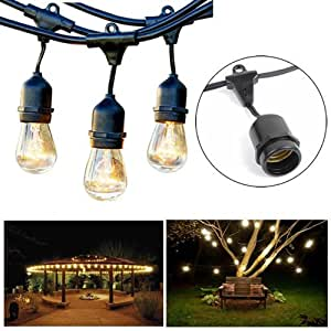 Amazon Com Outdoor String Lights 14 Gauge Awg Wiring 24